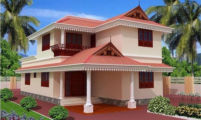 Indian home painting pictures for Exterior indian house paint